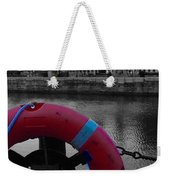 Red Lifebelt At Albert Dock 2 Weekender Tote Bag