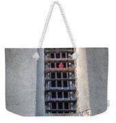 Red Light Jail Window Weekender Tote Bag