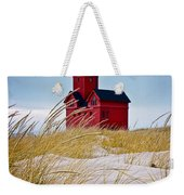 Red Lighthouse By Holland Michigan Known As Big Red Weekender Tote Bag
