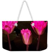 Red Lilies At Night Weekender Tote Bag