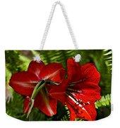 Red Lilies For Spring Weekender Tote Bag