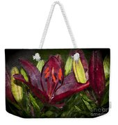 Red Lily 5 Weekender Tote Bag