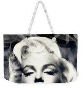 Red Lips Marilyn In Smoke Weekender Tote Bag