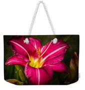 Red Magic Daylily Weekender Tote Bag by Bob Orsillo
