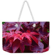 Red Maple After Rain Weekender Tote Bag
