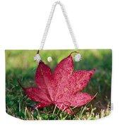Red Maple Leaf And Dew Weekender Tote Bag