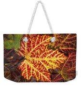 Red Maple Leaf Weekender Tote Bag
