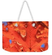 Peak Color Maple Leaves Weekender Tote Bag