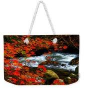 Red Maple Stream  Weekender Tote Bag