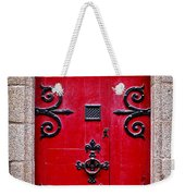 Red Medieval Door Weekender Tote Bag