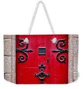 Red Medieval Door Weekender Tote Bag by Elena Elisseeva