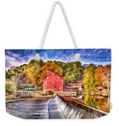 Red Mill Painted Weekender Tote Bag
