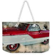 Red Mini Nash Vintage Car Weekender Tote Bag
