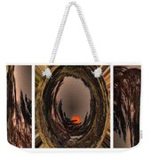 Red Moon Rising - Abstract - Triptych Weekender Tote Bag