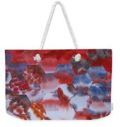 Red Morning With Two Ducks Weekender Tote Bag