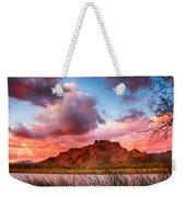 Red Mountain Sunset Weekender Tote Bag