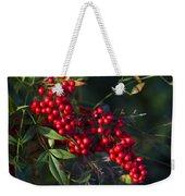 Red Nandina Berries - The Heavenly Bamboo Weekender Tote Bag