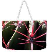 Red Needles On Barrel Cactus Weekender Tote Bag