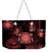 Red Neon Collage Weekender Tote Bag