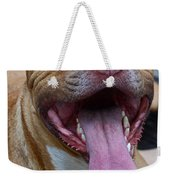 Red Nose Pit Bull Terrier Weekender Tote Bag