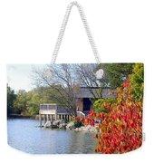 Red October On The Lake Weekender Tote Bag