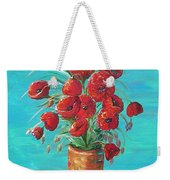Red On My Table  Weekender Tote Bag