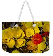 Red On Yellow Weekender Tote Bag