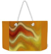 Red Orange And Yellow Glass Waves Weekender Tote Bag