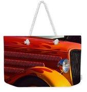 Red Orange And Yellow Hotrod Weekender Tote Bag