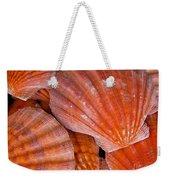Red Orange Sea Shells Weekender Tote Bag