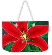 Red Oriental Daylily Weekender Tote Bag