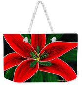 Red Oriental Lily Weekender Tote Bag