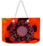 Red Oriental Poppy Weekender Tote Bag