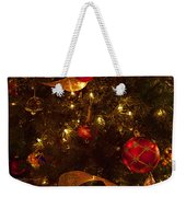 Red Ornament And Gold Ribbon Weekender Tote Bag