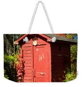 Red Outhouse Weekender Tote Bag