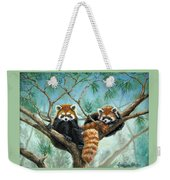 Red Pandas Weekender Tote Bag