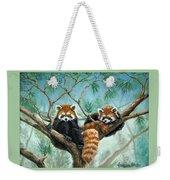 Red Pandas Weekender Tote Bag