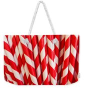 Red Paper Straws Weekender Tote Bag