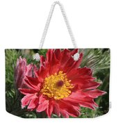 Red Pasque Flower Weekender Tote Bag
