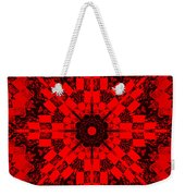 Red Patchwork Art Weekender Tote Bag