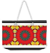 Red Peppered Sunshine - Abstract - Triptych Weekender Tote Bag