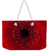 Red Petal Macro 3 Weekender Tote Bag
