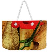 Red Petunia  Weekender Tote Bag