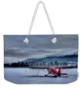 Red Plane In A Gathering Storm Weekender Tote Bag