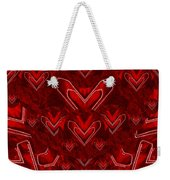 Red Pop Art Hearts Weekender Tote Bag