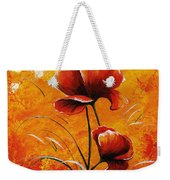 Red Poppies 023 Weekender Tote Bag