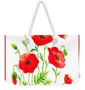 Red Poppies Botanical Design Weekender Tote Bag