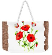 Red Poppies Decorative Collage Weekender Tote Bag