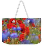 Red Poppies In The Maedow Weekender Tote Bag