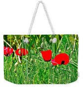 Red Poppies Near Meryem Ana Evi-cottage Believed To Be Mary's Last Home-turkey Weekender Tote Bag